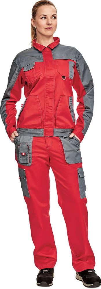 Červa MAX EVO LADY bunda červená/šedá vel.50