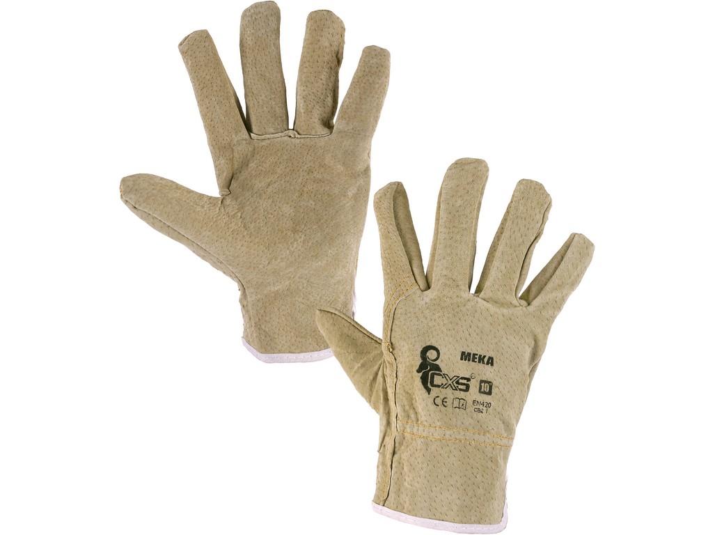 CXS Kožené rukavice MEKA, vel. 10
