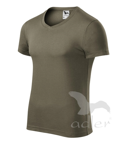 Adler 146 Slim Fit V-neck tričko pánské bílá vel.XXL