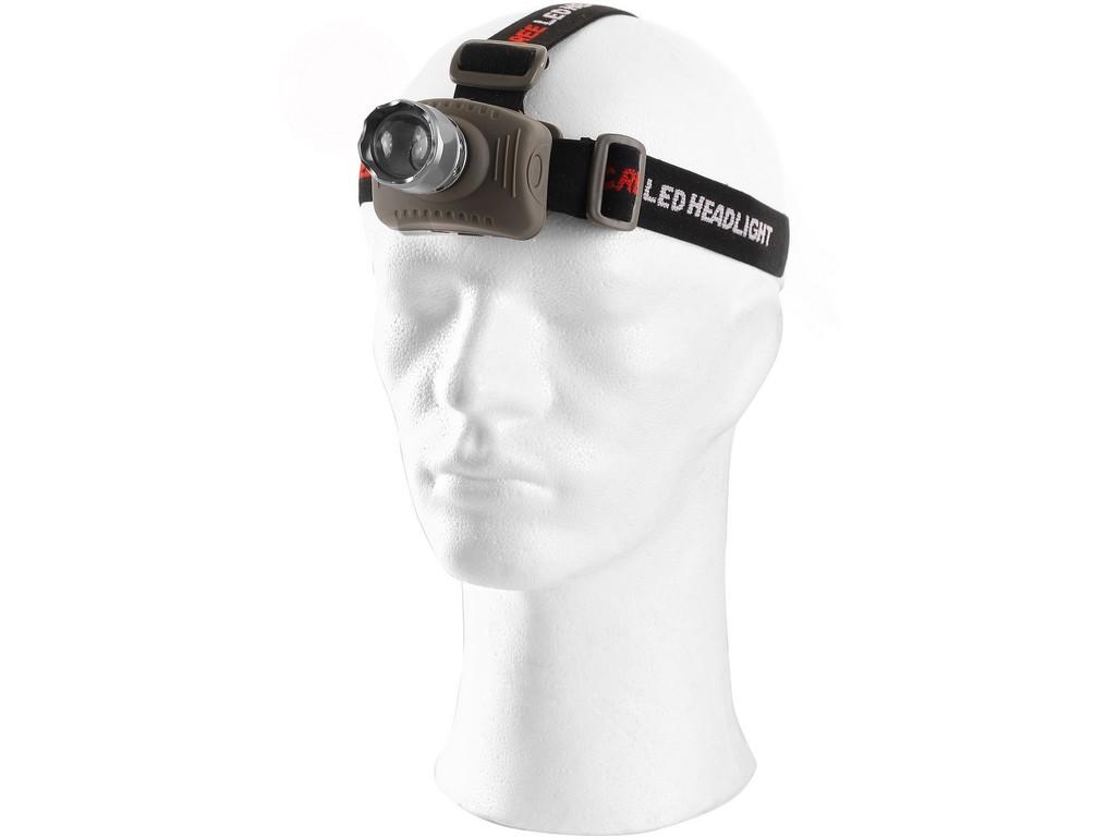 CXS LED čelovka s hliníkovým tělem