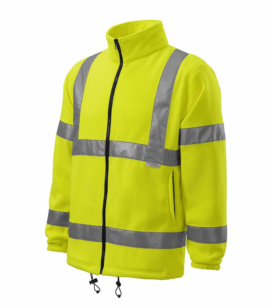 Adler 5v1 HV Fleece Jacket reflexní žlutá XL