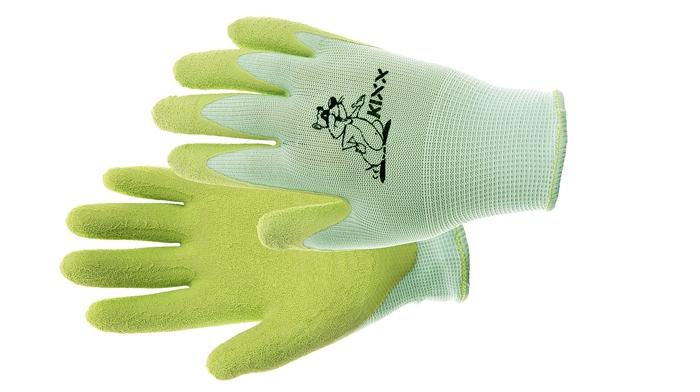 Dětské rukavice nylon. latex. dl zelená vel.4
