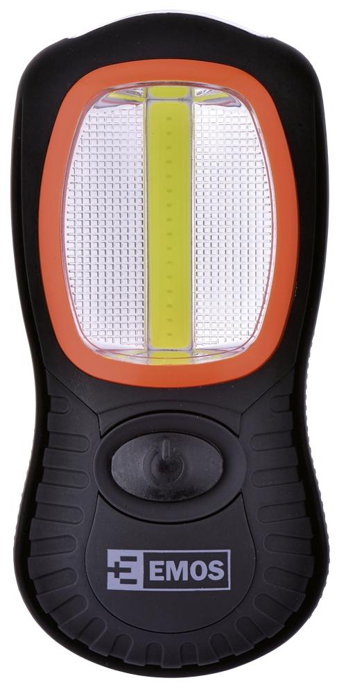 COB LED svítilna+3diod 3AAA P3883