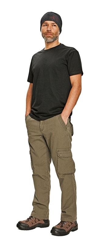 CRV RAHAN zateplené kalhoty olivová S