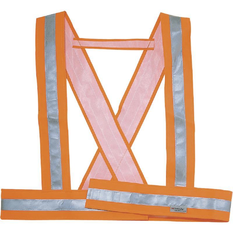 Delta Plus Reflexní kříž / kšandy Bauce oranžová