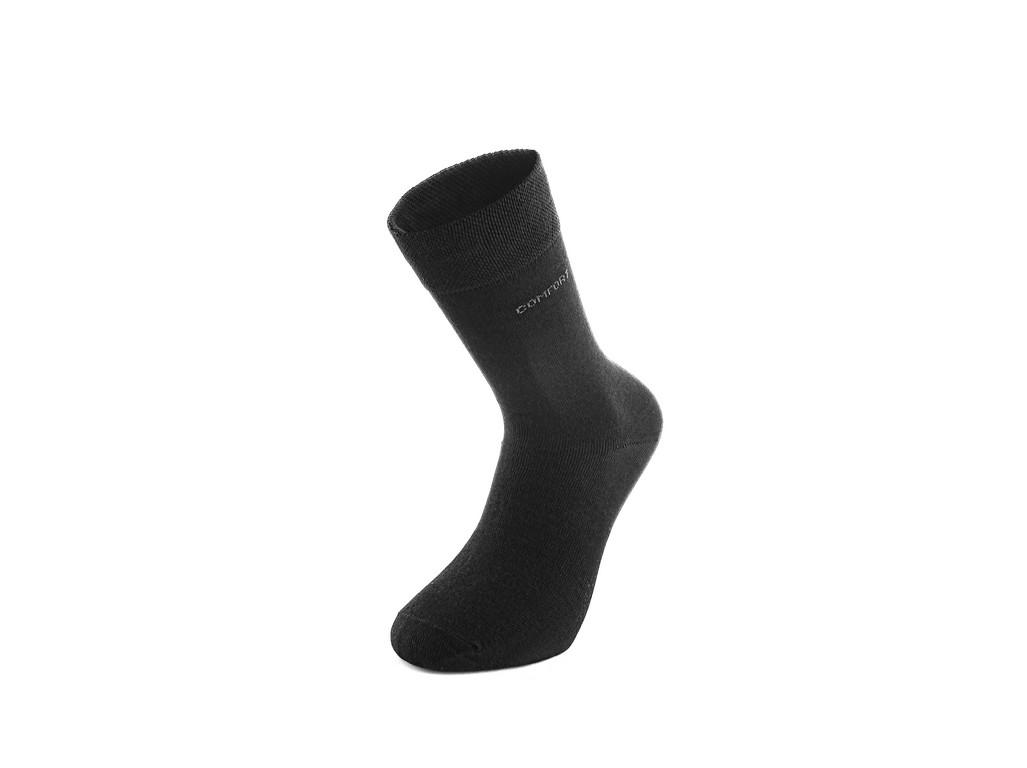 CXS Antibakteriální ponožky COMFORT, černé, vel. 39