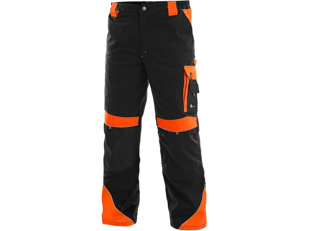 CXS Pánské kalhoty SIRIUS BRIGHTON, černo-oranžová, vel. 52