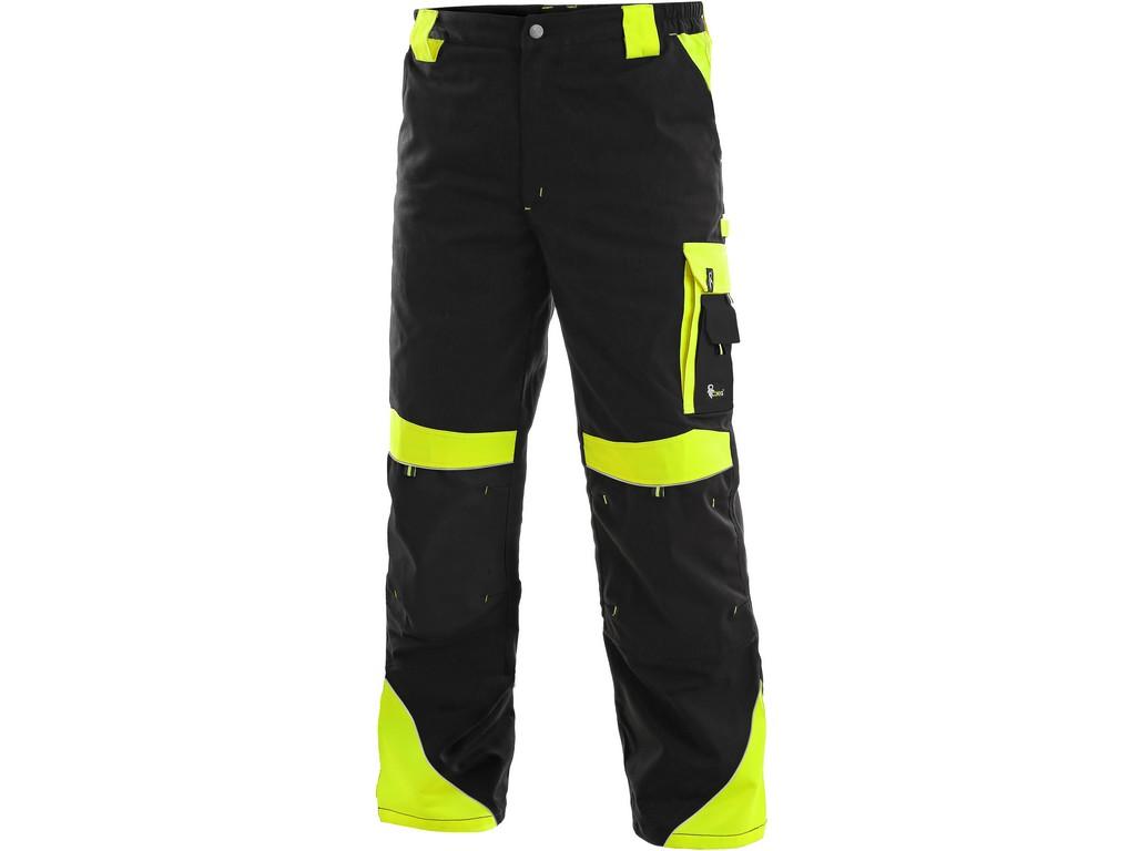CXS Pánské kalhoty SIRIUS BRIGHTON, černo-žlutá, vel. 52