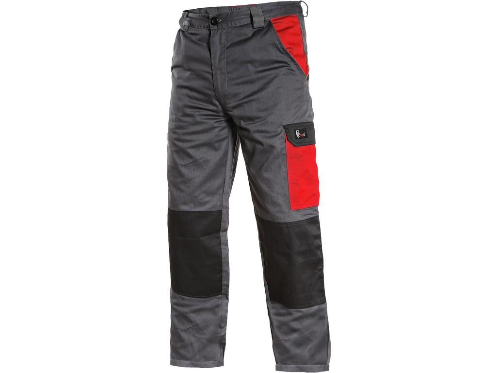 CXS Pánské kalhoty PHOENIX CEFEUS, šedo-červené, vel. 52