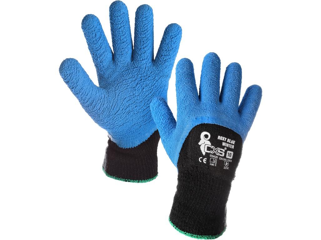 CXS Povrstvené zimní rukavice ROXY BLUE WINTER, vel. 10
