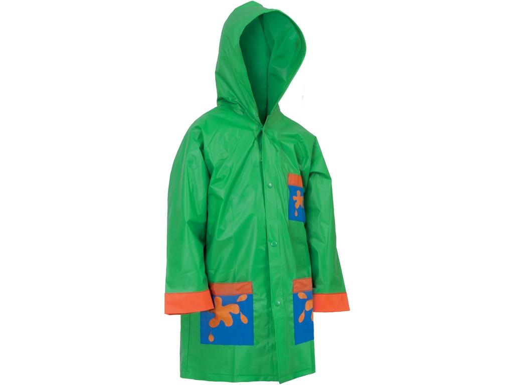 CXS Dětská pláštěnka FROGY, zelená, vel. 90