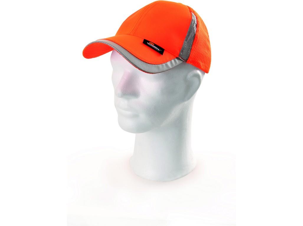 CXS Reflexní kšiltovka ELY, oranžová