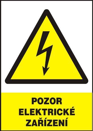Pozor - elektrické zařízení